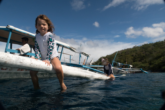 Playing on a Banka Boat