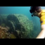 Exploring a shipwreck in Michoacan, Mexico